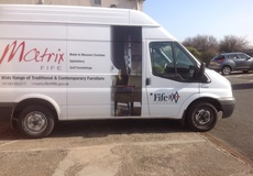 Panaz fabrics featured on Matrix Fife delivery vans